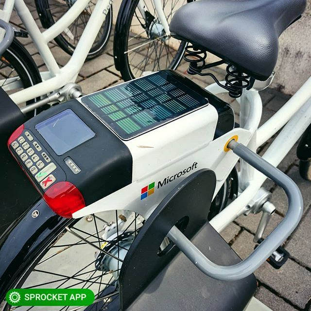 2017 JUMP Microsoft employee bike share solar powered