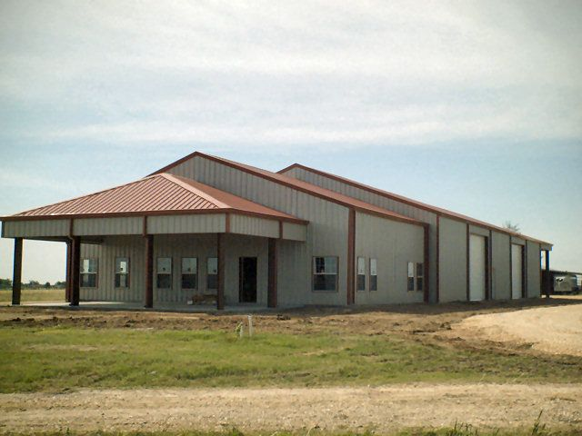 Steel building homes metal metal for Metal building office floor plans