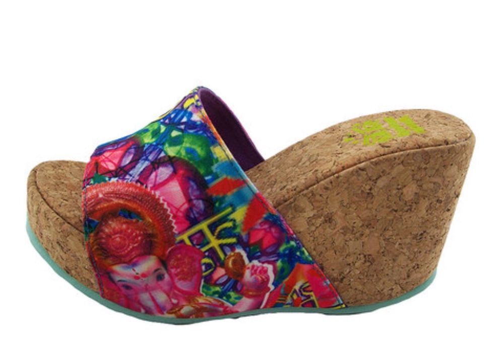 Bollywood Lulu Wedge Shoe, Tiger Bear Republic, 8m NWOB #TigerBearRepublic #PlatformsWedge