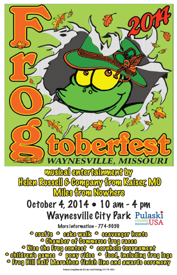 It's the most froggiest time of the year! october 4th in Waynesville!