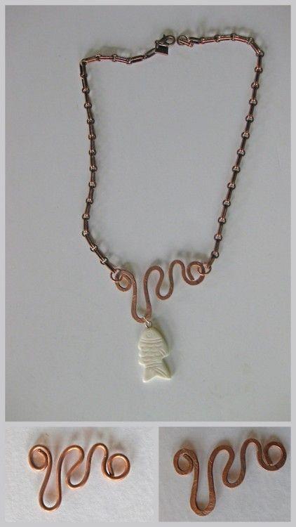 Diy hammered copper wire jewelry tutorial crafts for Hammered copper jewelry tutorial
