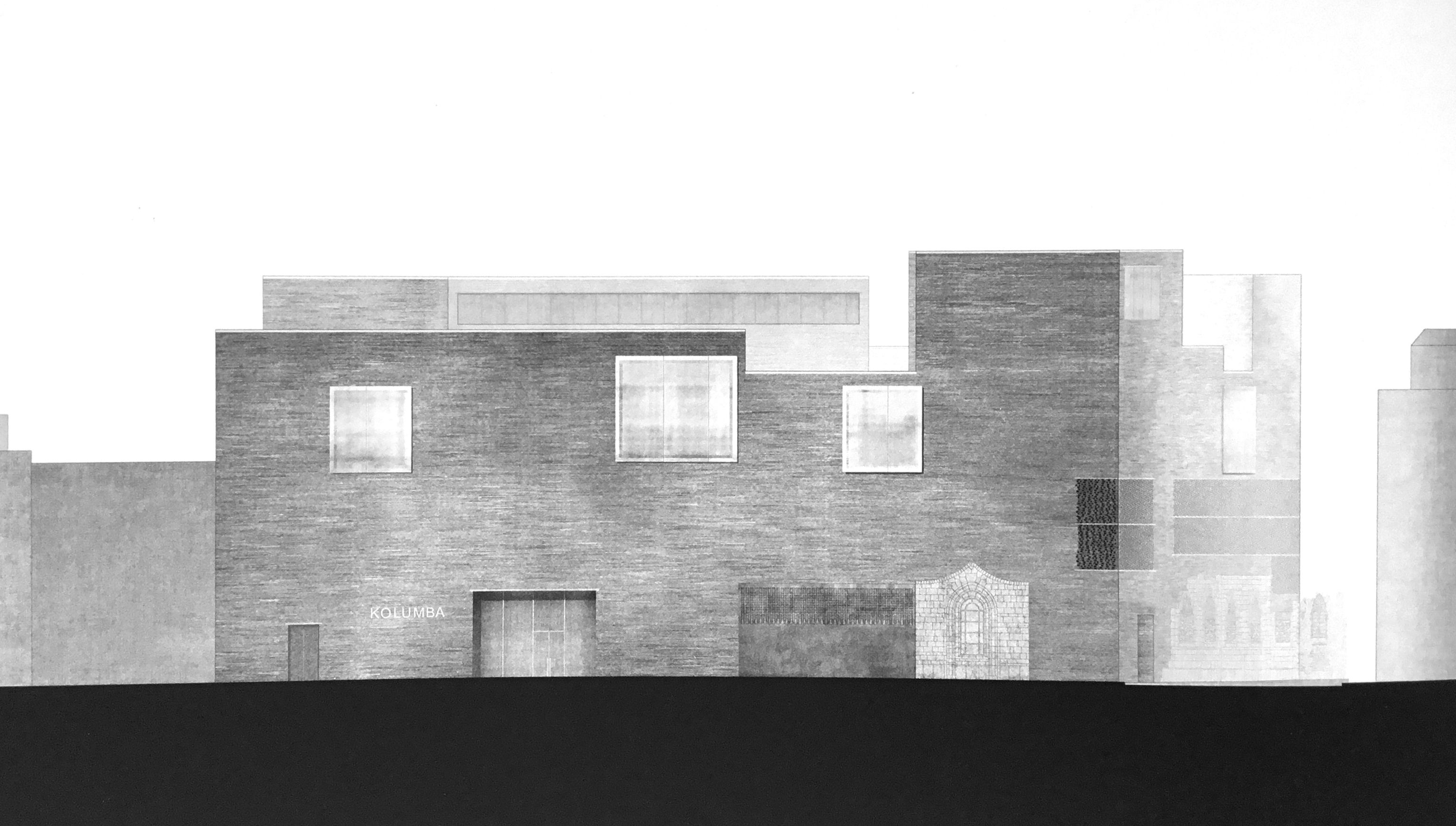 Kolumba Art Museum Cologne Germany. Peter Zumthor Rep Elevation