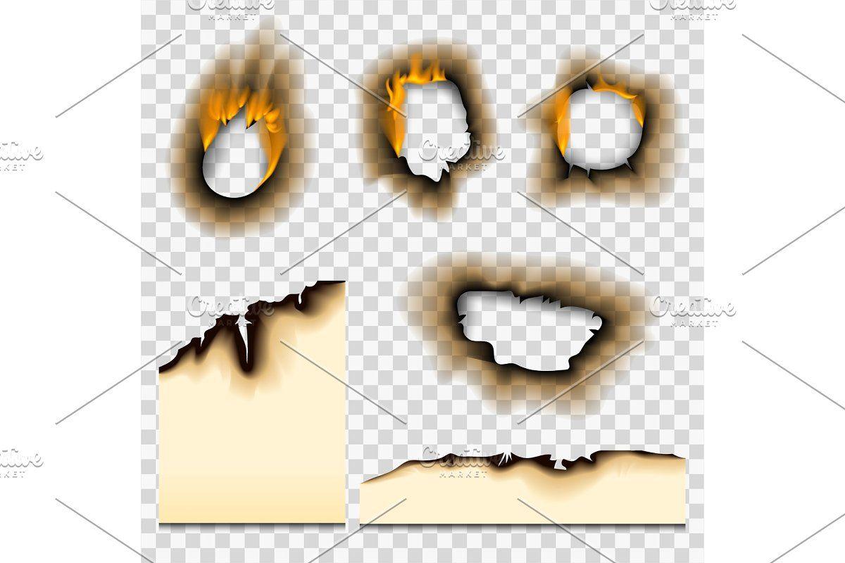 Burnt Piece Burned Faded Paper Hole Paper Fire Burnt Paper Texture Design
