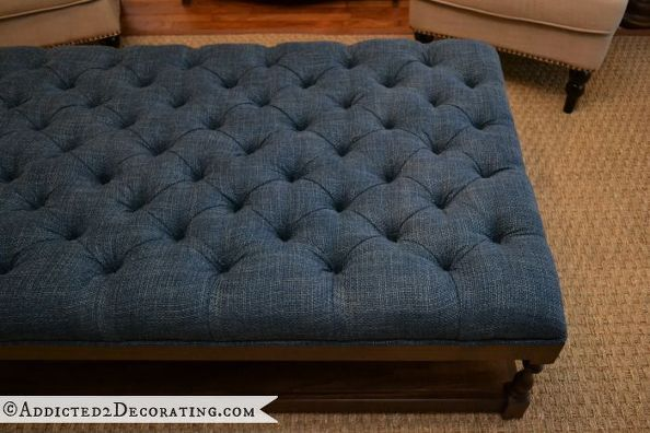 DIY Diamond Tufted Coffee Table Ottoman | Mesa de café otomano ...