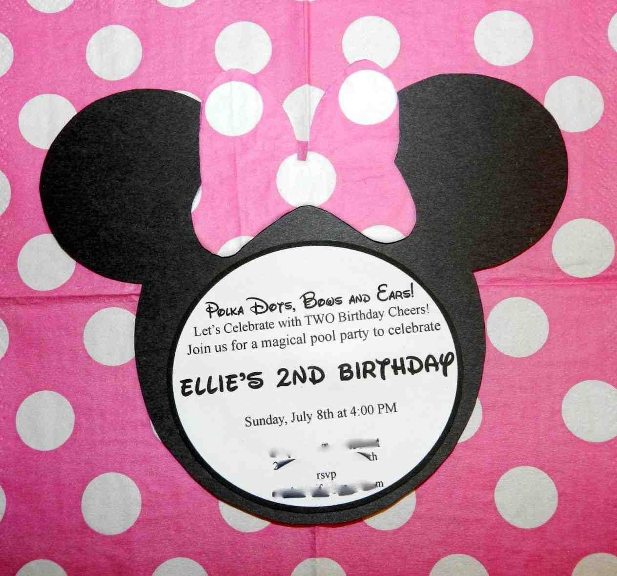 At Second Street Minnie Invitations Mouse Birthday Party In Spanish For A Bewitching Invitation Design With