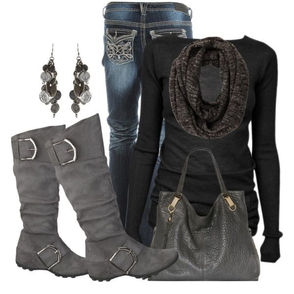 Black Gray Style I Love Women S Fashion Fashion Style Outfits