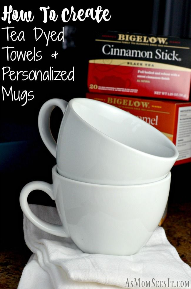 We Found Two Creative Easy And Fun Ways To Use Our Old Tea Bags When Switched Elow How Create Dyed Towels Customized Cups