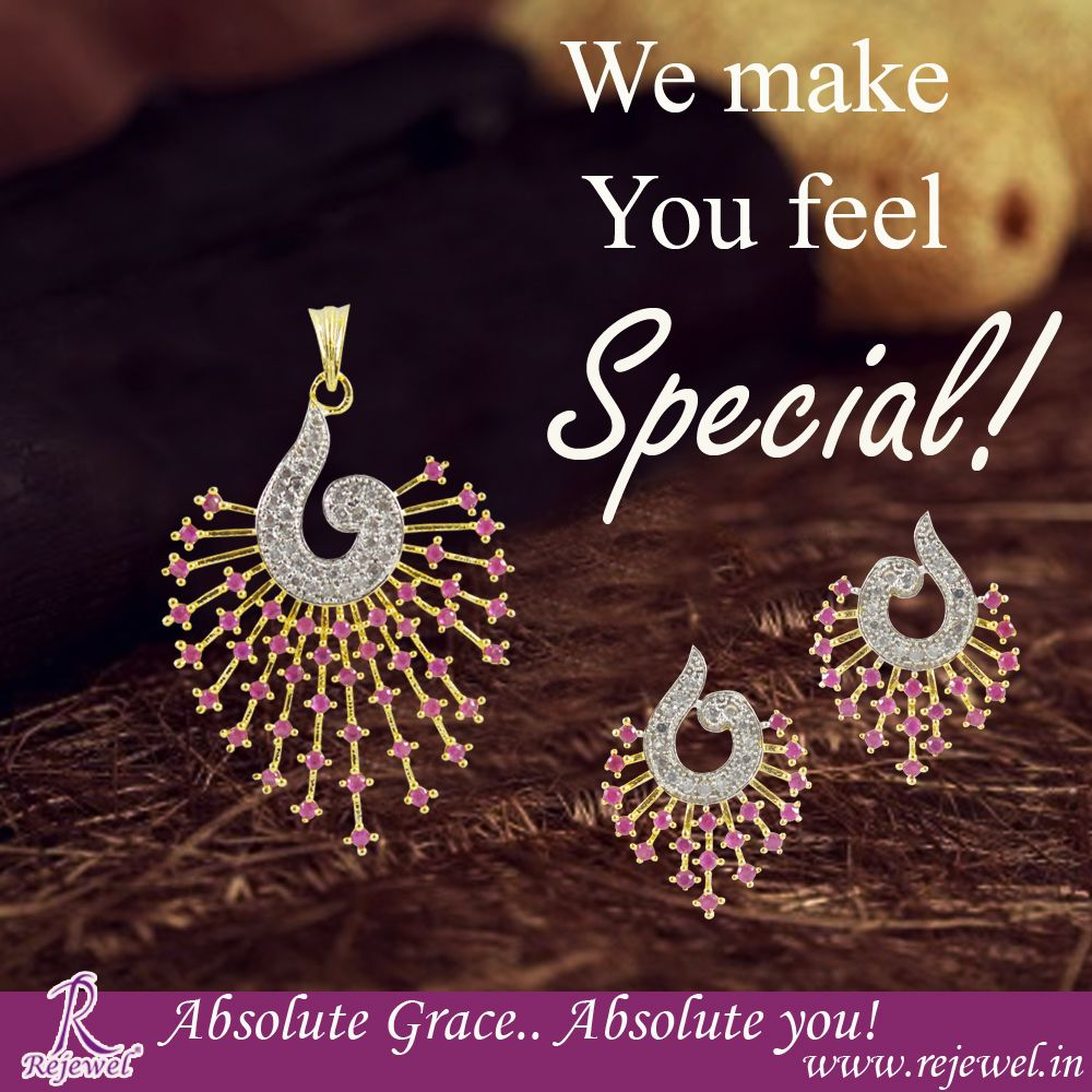 Showcase the elegance and charm of yourself with this pendant set