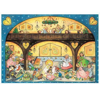 The Holiday Aisle Raci Angels And Children Advent Calendar Advent Art Christmas Angels German Advent Calendar