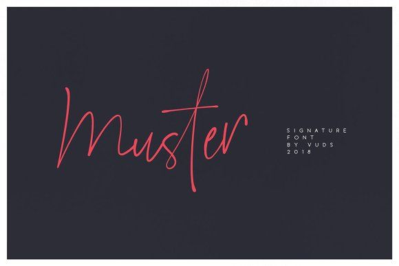 Muster script fonts typography and logos