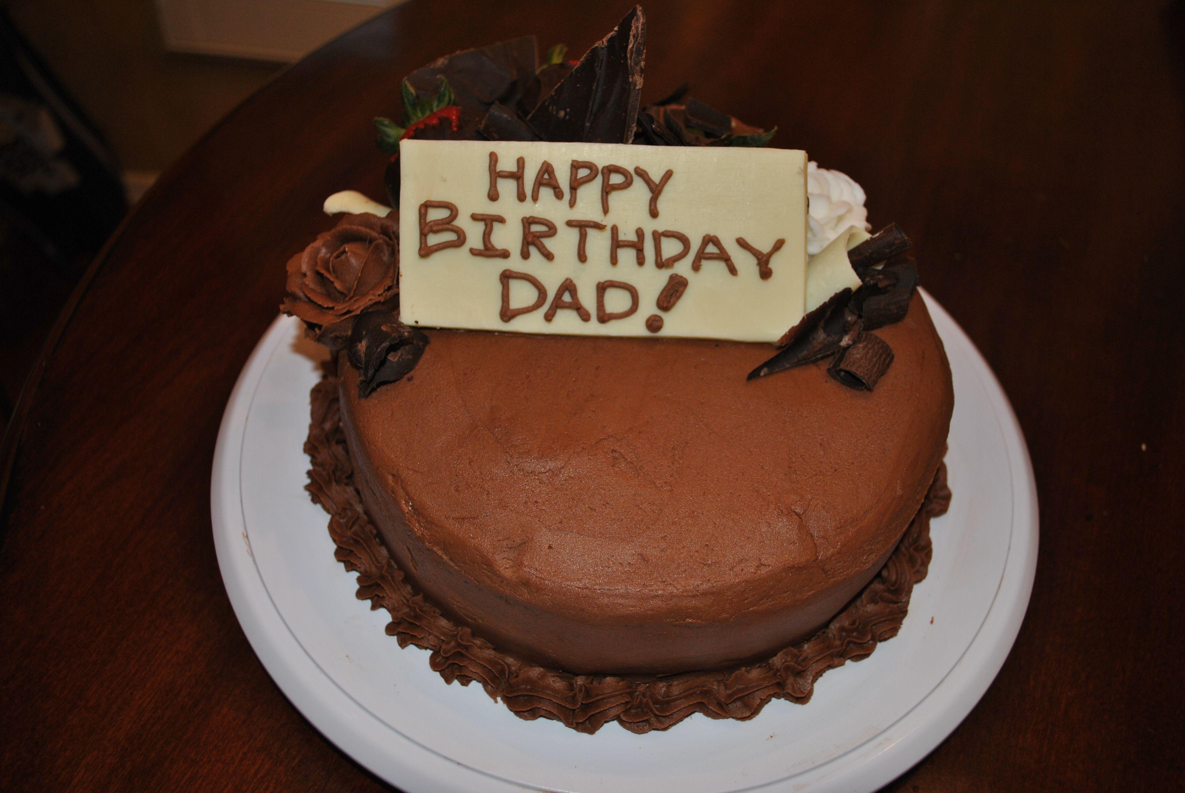 Birthday cake i made for my dado cake food desserts