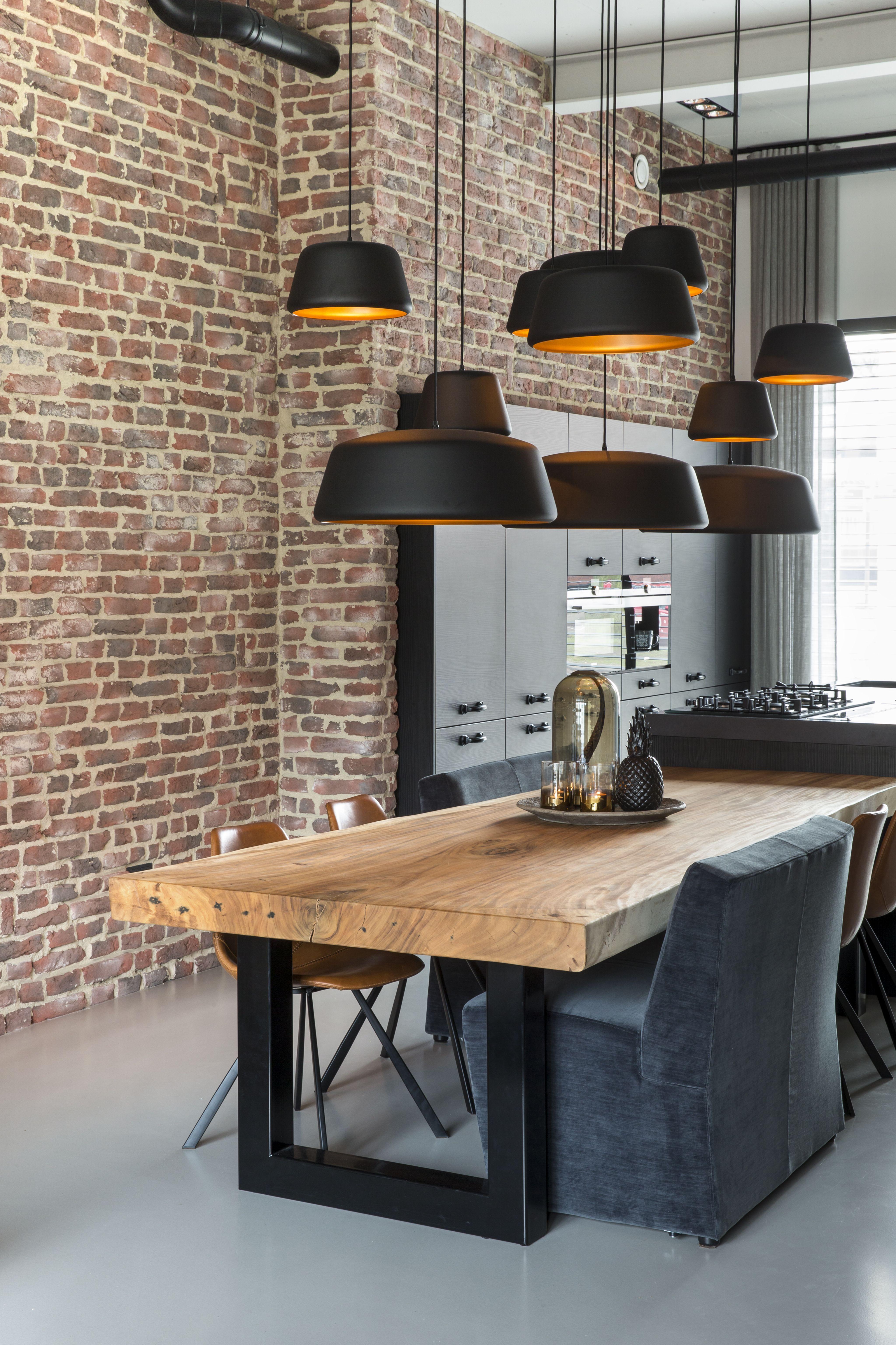Nieuw Houten tafel zwarte stalen poten - Interieur, Eetkamer idee en FZ-66