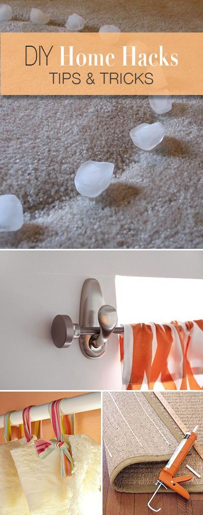 diy home hacks | the ribbon, curtain rods and home improvements