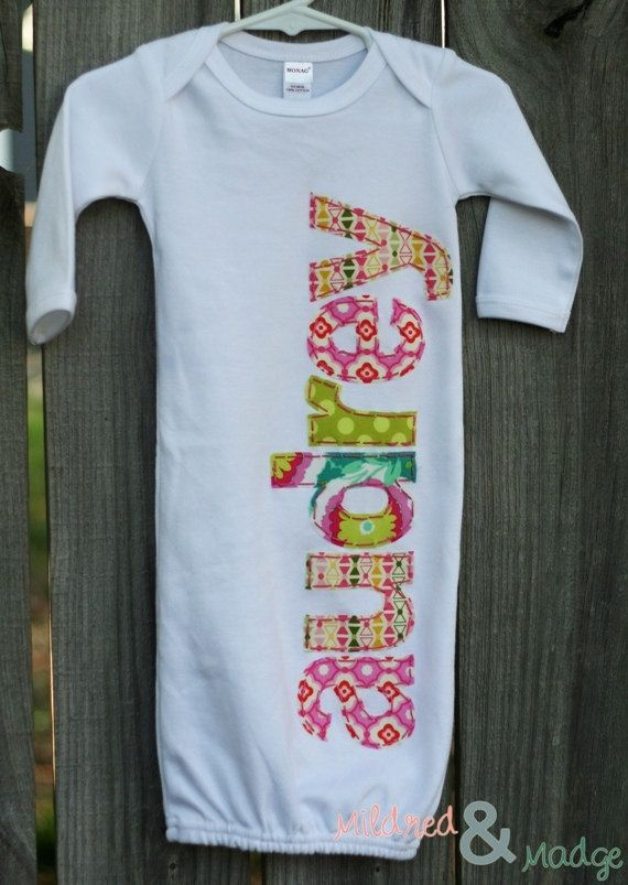 Hand Appliqued Personalized Infant Baby Girl by MildredandMadge ...