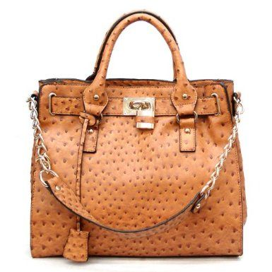 a873166aed81 Designer Inspired Ostrich Finish Temira Tote - Colors Available