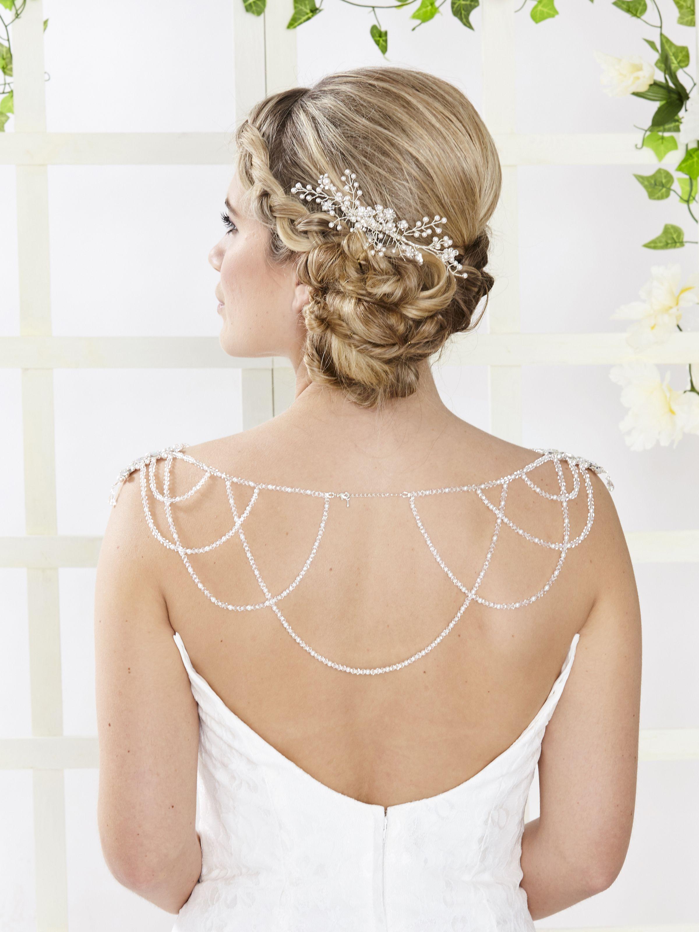 Arn titania shoulder necklace back drape jewellery pinterest
