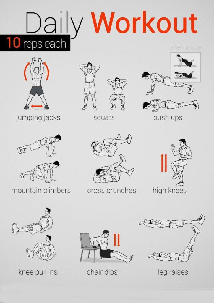 Daily Workout Routine Workout Health Tips Fitness