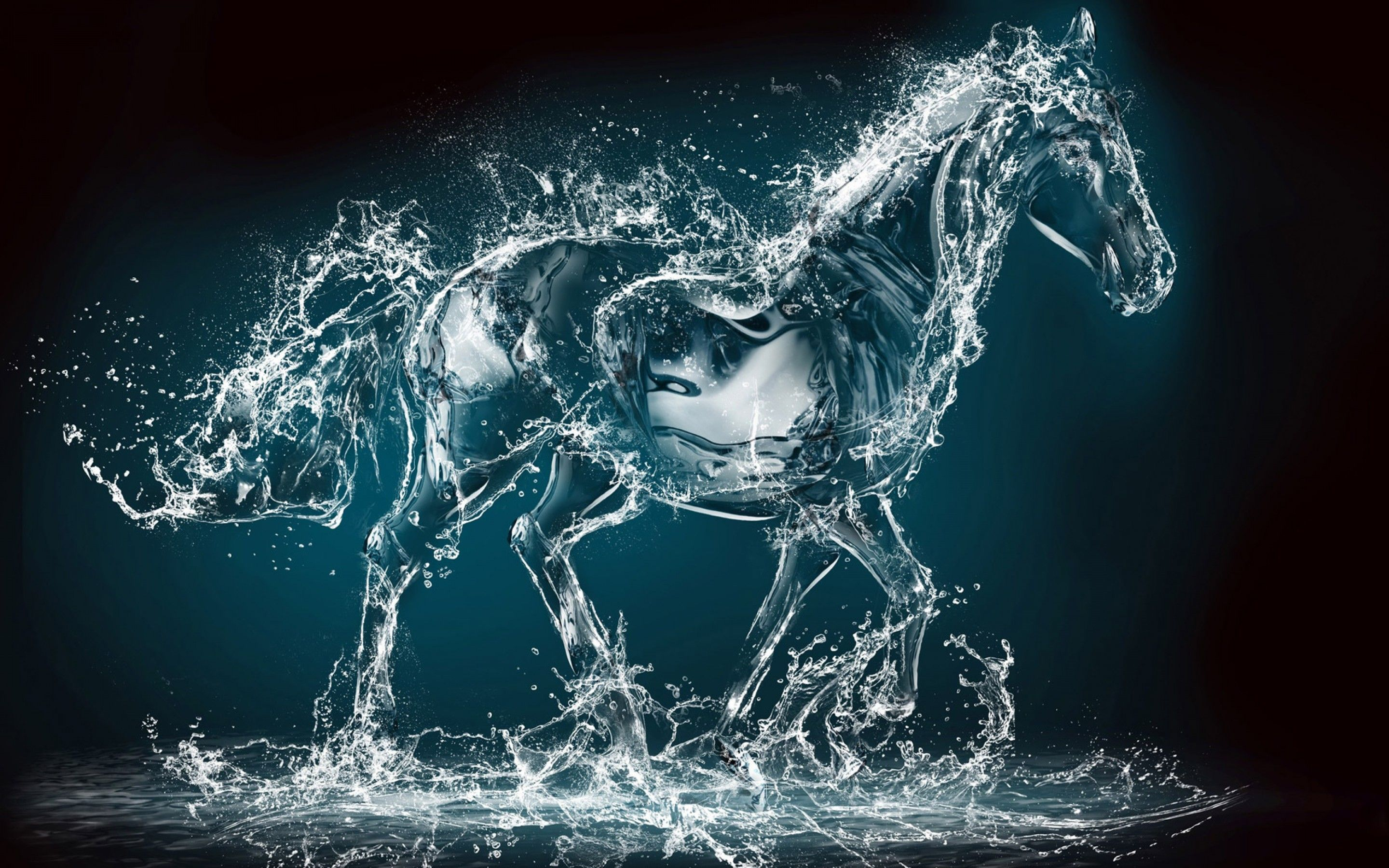 Water Art 3d Horse Hd Wallpaper Water Art Horse Wallpaper Art Wallpaper