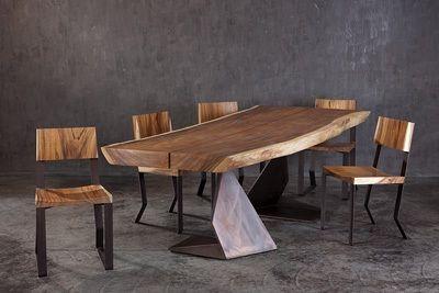 Tavolo legno massello grezzo cerca con google progetti - Tavolo legno grezzo design ...