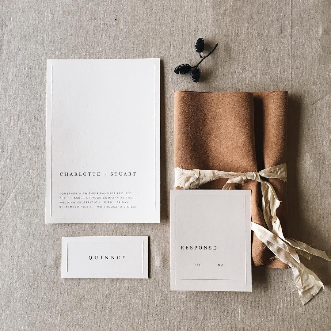 Someone Asked Me Once Why I Leave All That Empty Space In My D Minimalist Wedding Invitations Minimalist Wedding Invitation Modern Modern Wedding Invitations