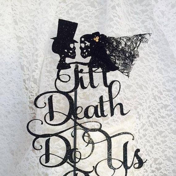 Till Do Us Part Cake Topper Skull Decorations Mr