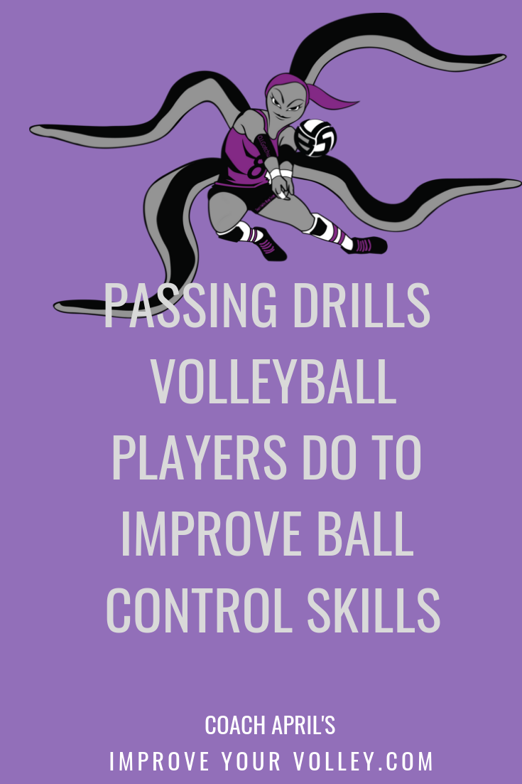 Passing Drills Volleyball Players Do To Improve Ball Control Skills Passing Drills Volleyball Training Volleyball Drills For Beginners