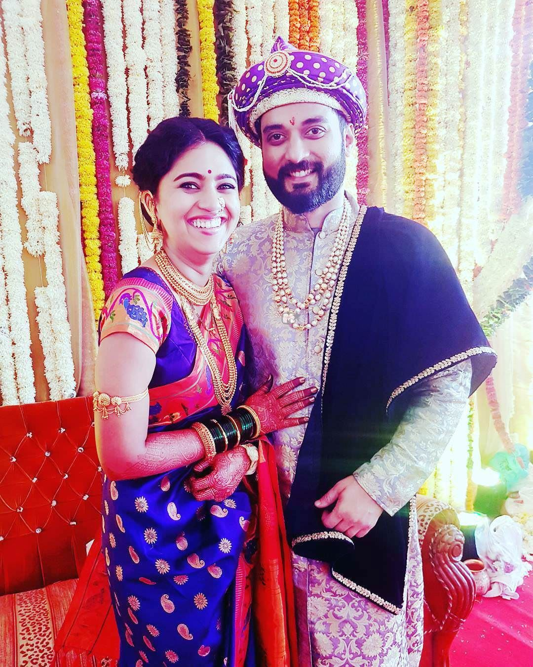 Mrunmayee Deshpande Swapnil Rao Marriage Photos Wedding Mehandi Mrunmaye With Husband Marathi Actress