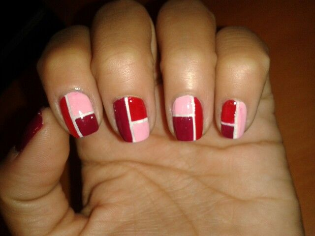 Nail Art - Bloques de color