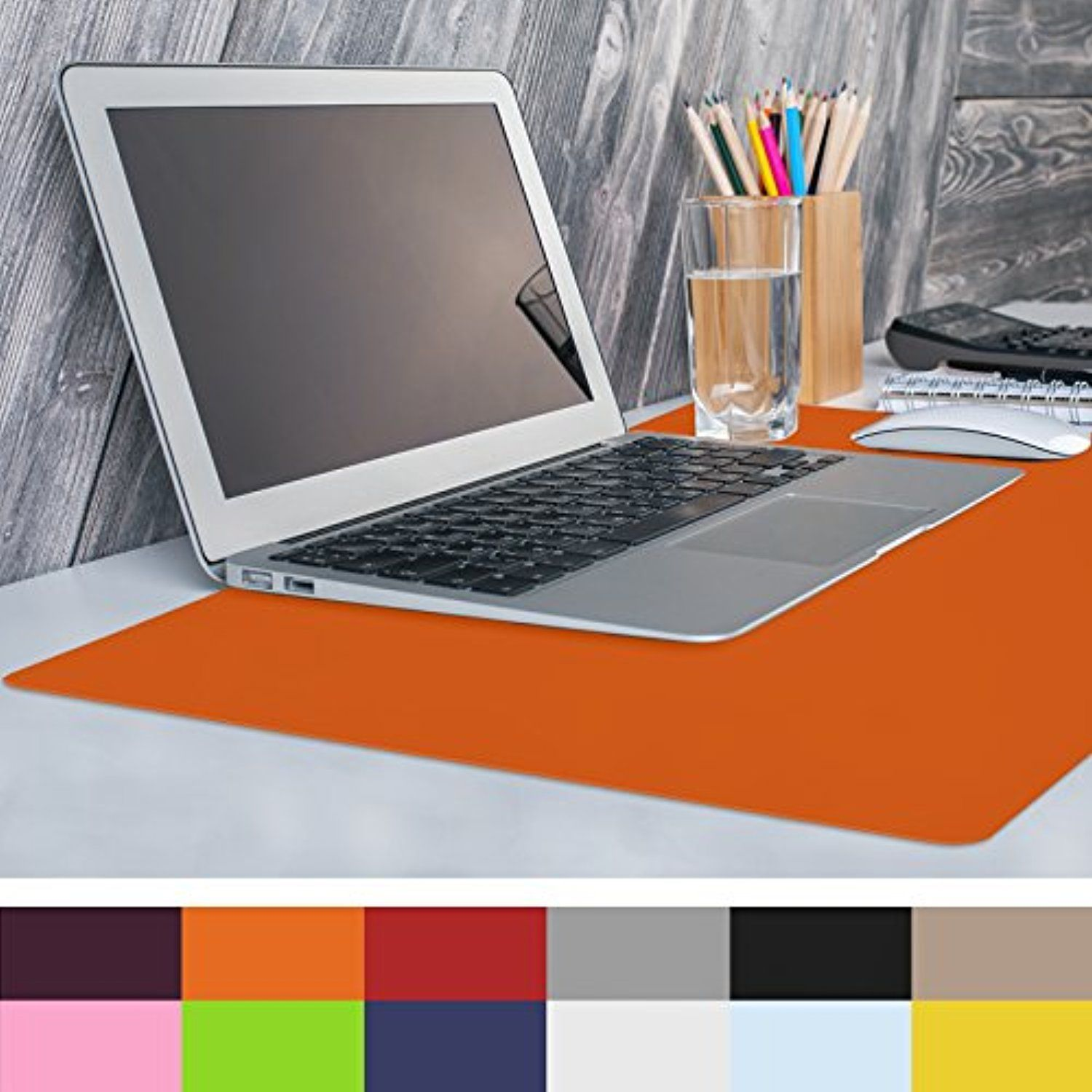 Casa Pura Non Slip Orange Desk Mat 20 X 26 1 6 X2 Pvc Homedcor Clear Desk Office Supplies Desk Accessories Desk Mat