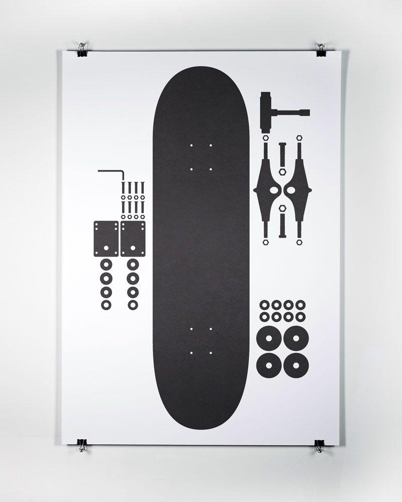 I Used To Skate 6 Posters For Print Process Mark Boyce Skateboard Grafik