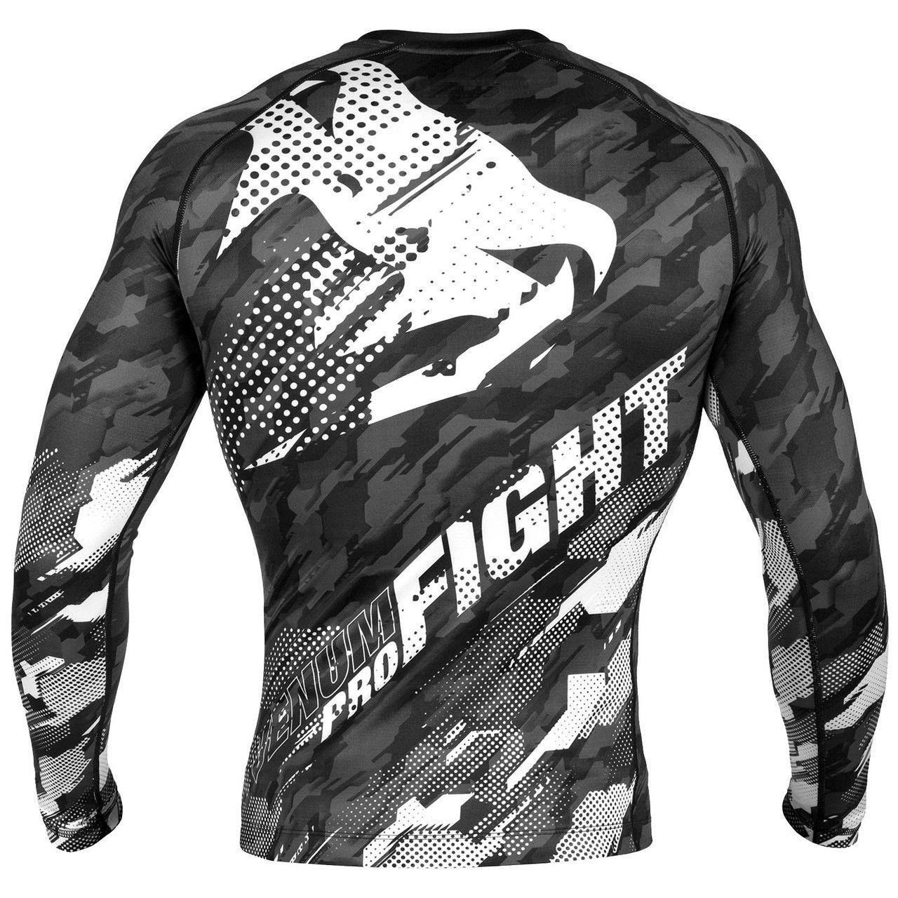 Venum Bloody Roar Dry Tech Long Sleeve MMA Rashguard Gray