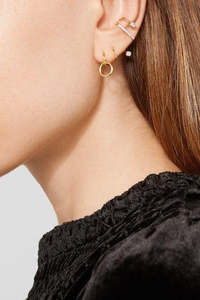 e53839a46a70e Maria Black - Saga Twirl gold-plated earring   Pierce This in 2019 ...