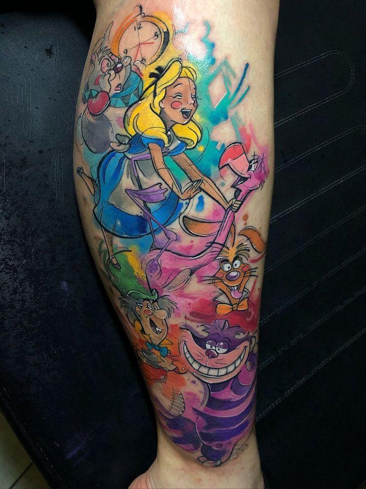 100 Magical Disney Tattoo Ideas Inspiration Brighter Craft Disney Sleeve Tattoos Disney Watercolor Tattoo Disney Tattoos
