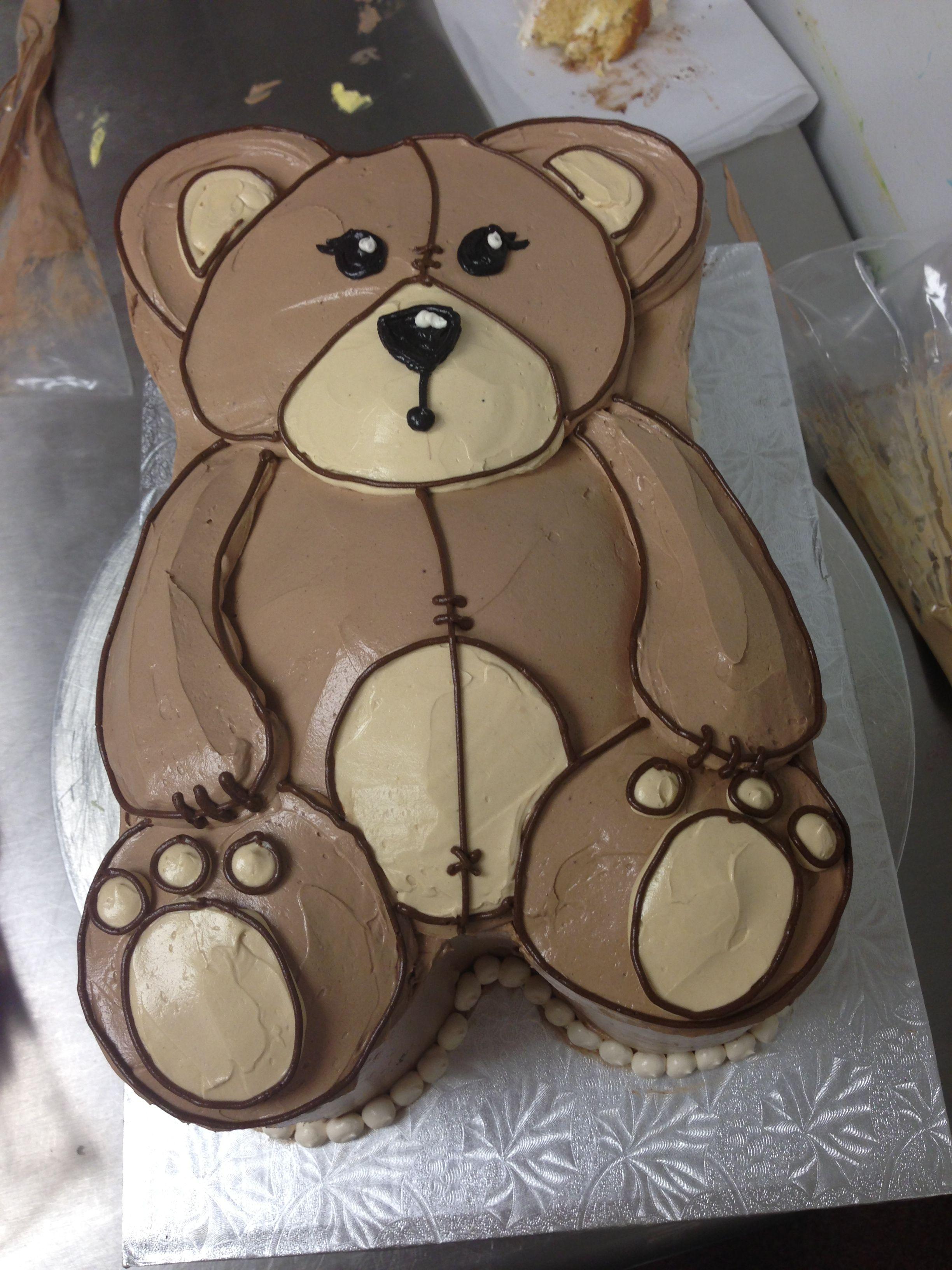 Buttercream teddy bear cake by heidi miller teddy bear