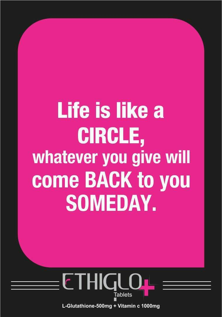 Life Is Like A Circle Whatever You Give Will Come Back To You