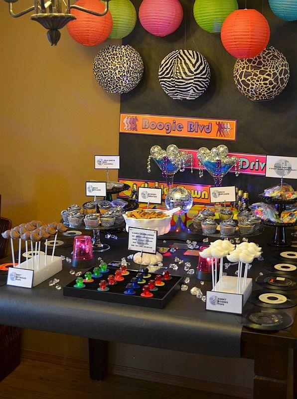 Wonderful 70s Theme Party Decorations Ideas Part - 10: 70S Party Decoration Ideas | Fiesta Friday/Real Party - 40th Birthday 70s  Disco Bash