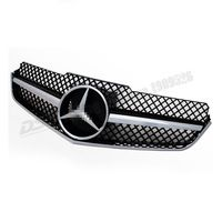 W207 ABS Black Mesh Grille for Mercedes-Benz E Class 2 Door Coupe C207 Convertible 2010-2013 E200 E350 E550 1 Fin SLS Style