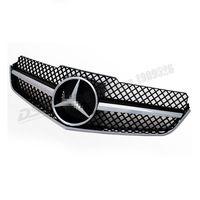 W207 ABS Black Mesh Grille for Mercedes-Benz E Class 2 Door Coupe C207 Convertible 2010-2013 E200 E350 E550 1 Fin SLS Style