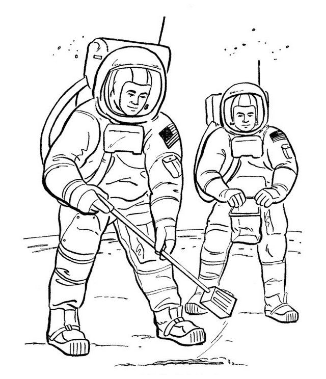 Kids will love this little and realistic astronaut coloring page full of astronauts and space scenes