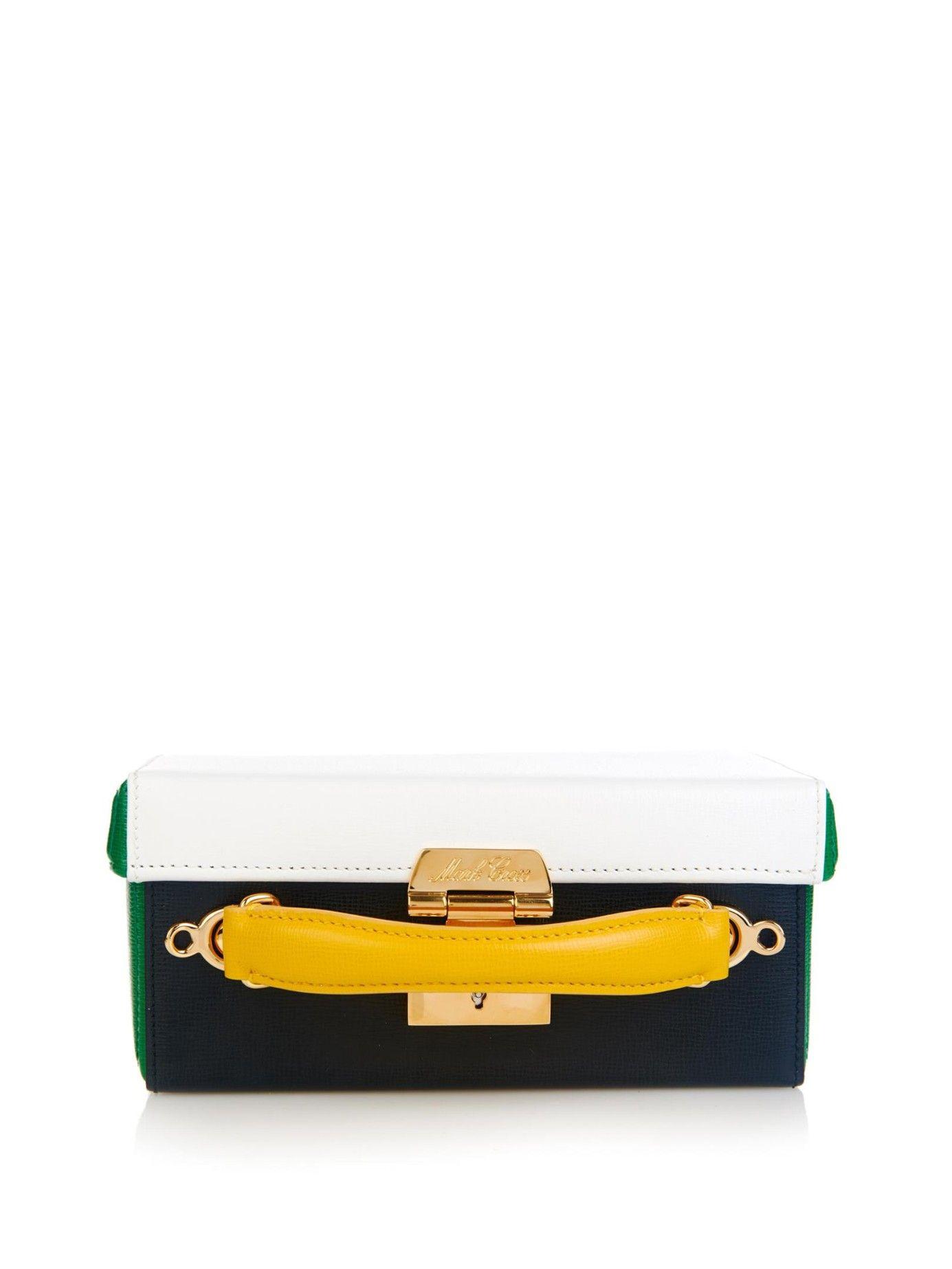 Grace small colour-block leather box bag   Mark Cross   MATCHESFASHION.COM