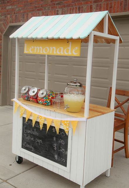 Lemonade stand ideas and recipes room recipes and craft for How to build a lemonade stand on wheels