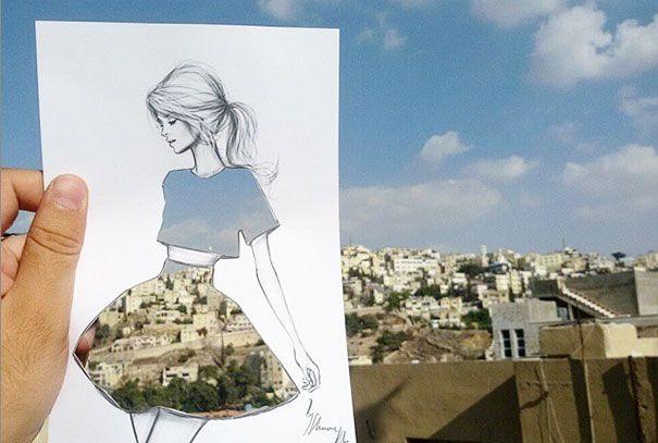 Shamekh Bluwi  a jeho módne ilustrácie 1