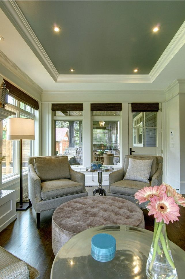 What Color To Paint Ceilings tray ceiling paint- benjamin moore revere pewter on walls and gull