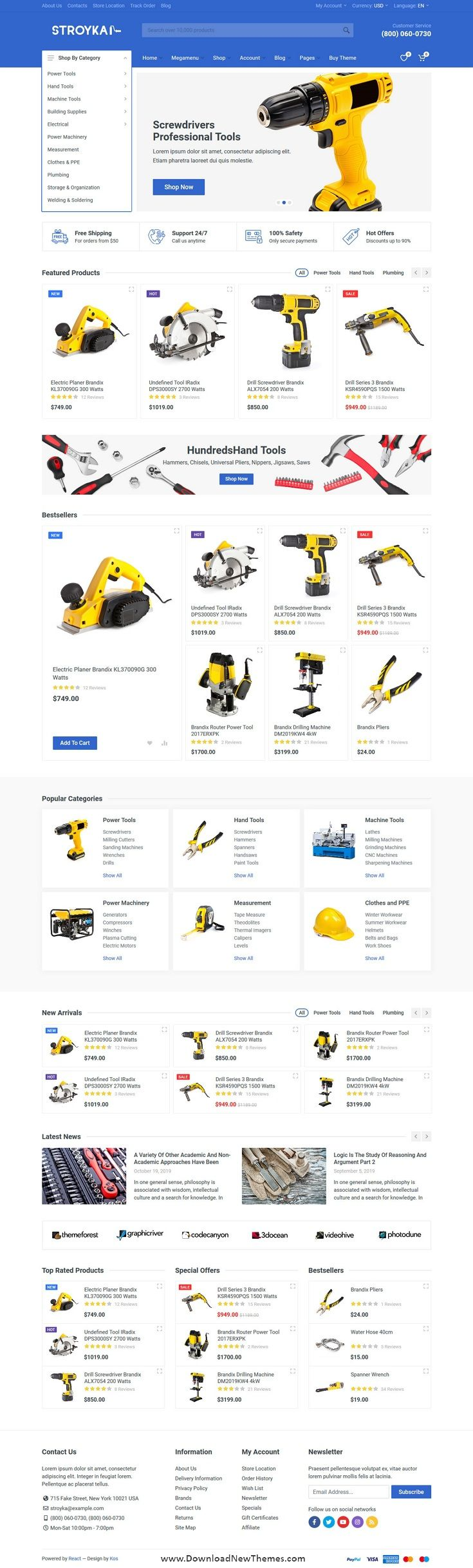Stroyka Tools Store React Template