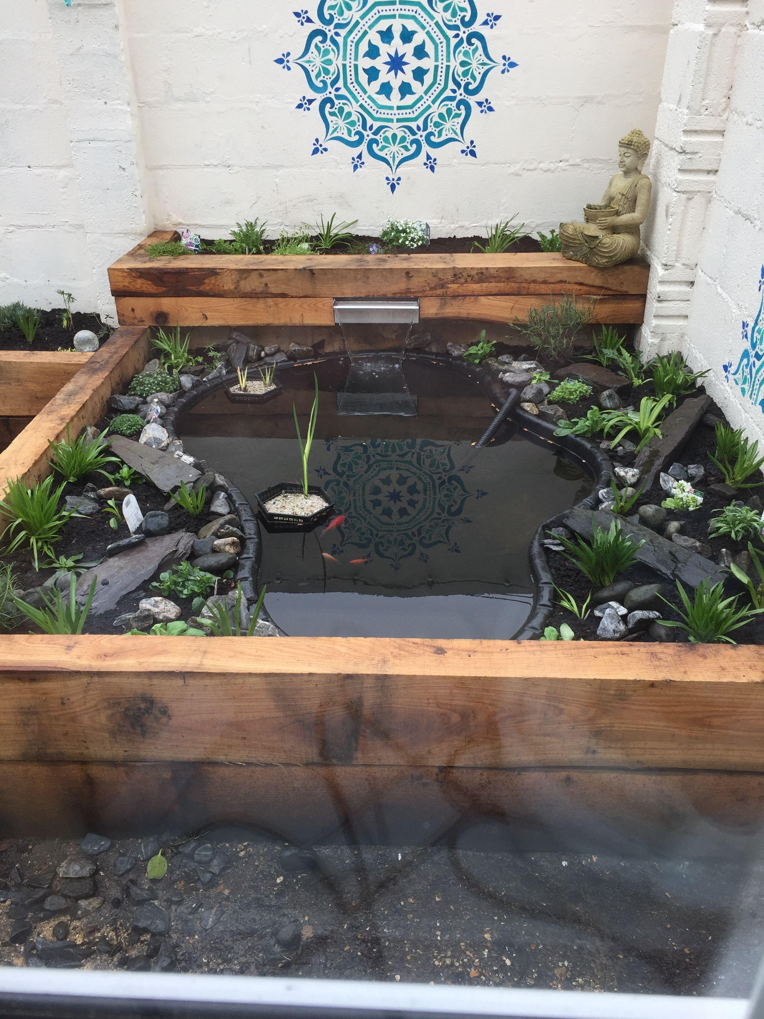 Raised sleeper pond. Zen garden. | Ponds backyard ... on Raised Garden Ponds Ideas id=13482