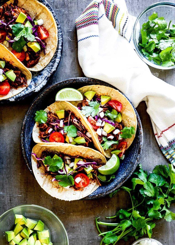 Bbq jackfruit tacos tasty plantbased meal in 15 minutes
