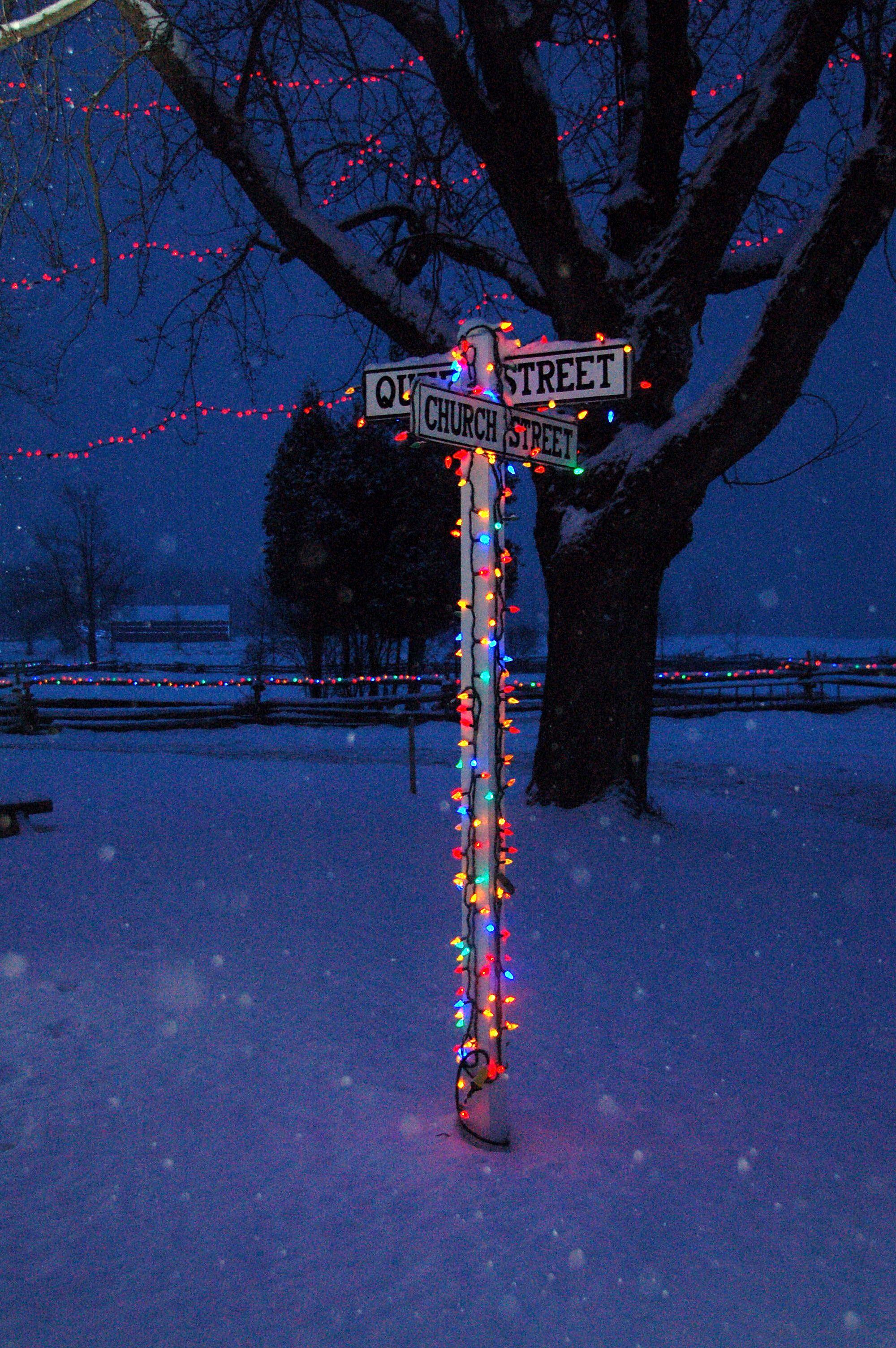 Alight At Night Upper Canada Village Canada Village Canadian Winter Neon Signs