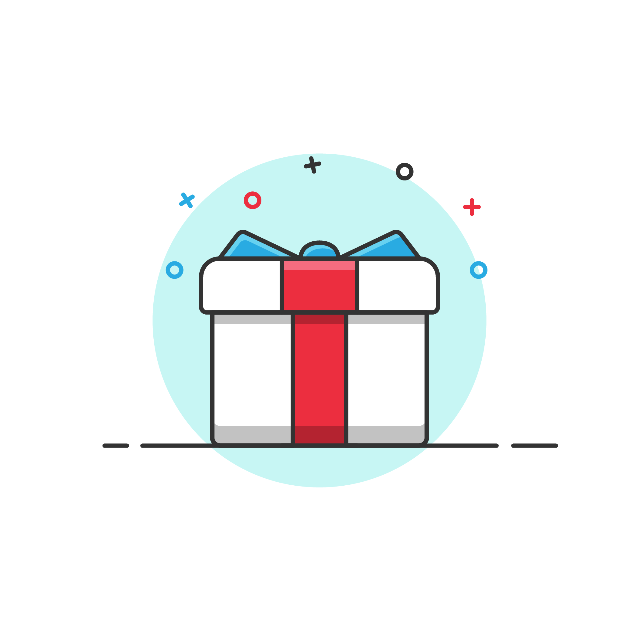 Gift Box Vector Icon Illustration Vector Icons Illustration Image Gifts Vector Icons