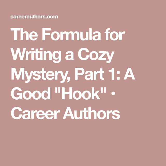 cozy mystery scrivener template