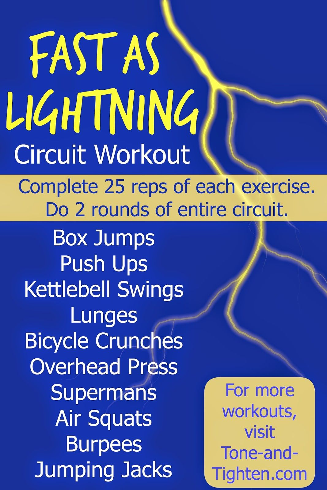 Fast As Lightning Total Body Circuit Workout Tone And Tighten Full With Weights Workouts Pinterest From Tightencom Fitness Crossfit